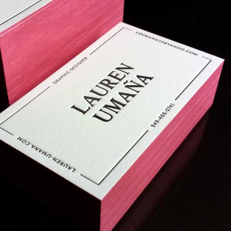 边沿擦色名片-上海高档名片印刷,高端名片制作